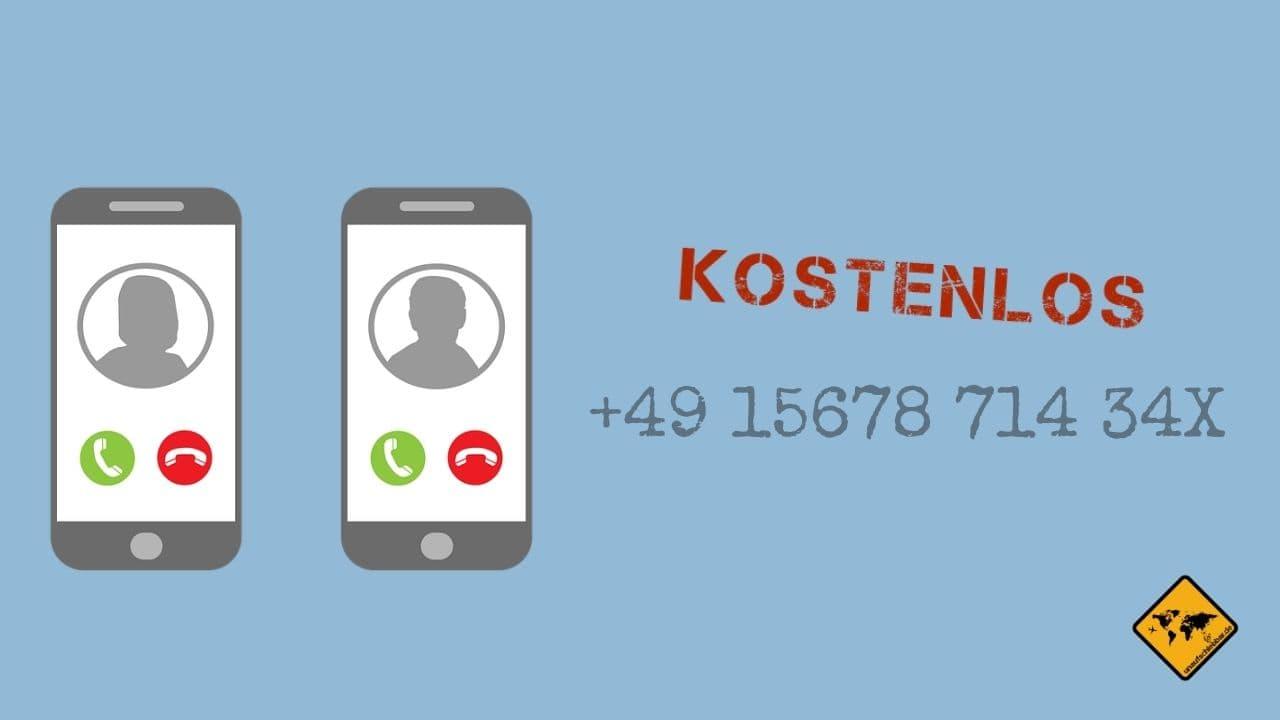 ortsunabhängige Telefonnummer digitale Nomaden