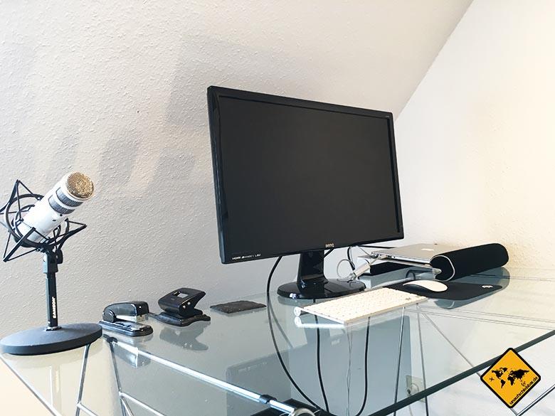 remote Arbeit remote arbeiten Tipps Schreibtisch Desktop