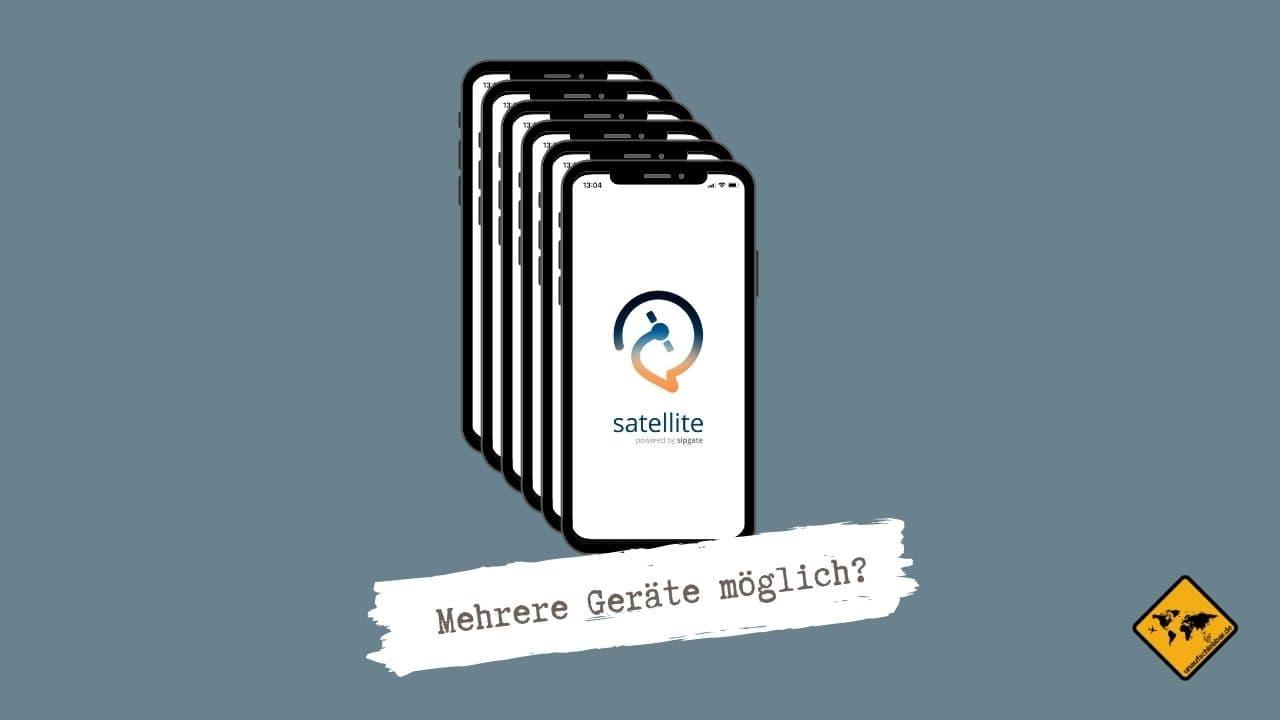 Satellite App auf mehreren Geräten nutzen