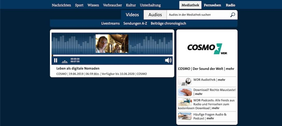 unaufschiebbar COSMO Radio Interview