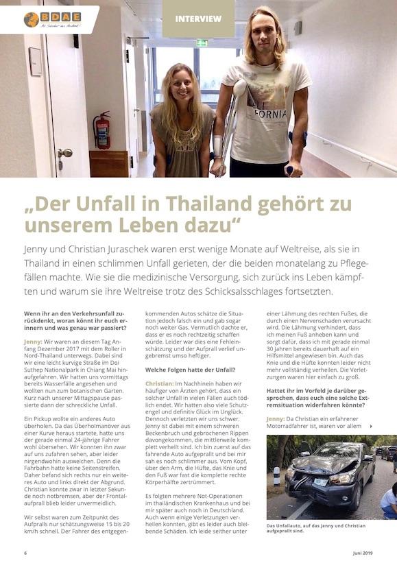 Unser Interview im BDAE Journal (1. Seite)